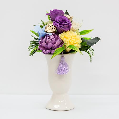 仏花 お供えプリザーブドフラワー 線香セット