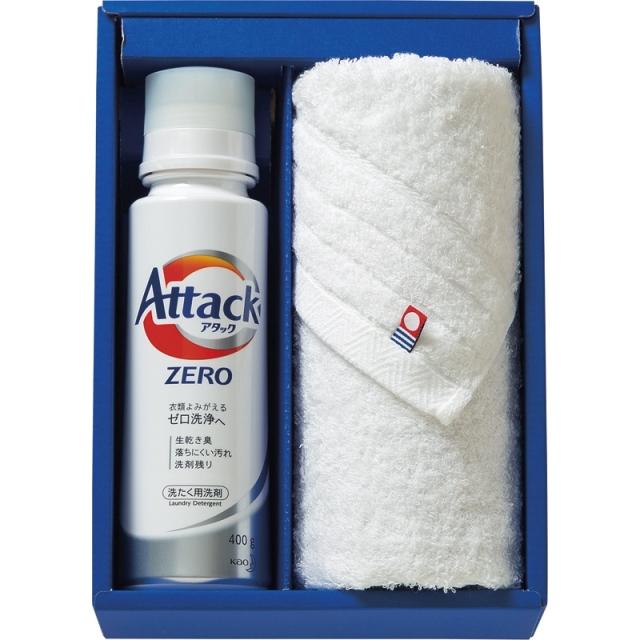 つかいたい贈りたい アタックZERO&今治製甘撚りタオルセット (ZER-15)<C1012017>