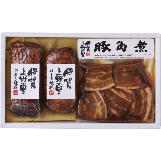 全国送料無料 伊賀上野の里 豚角煮&焼豚セット (SAG-35) (メーカー直送品・冷蔵便)**<C1269105T>
