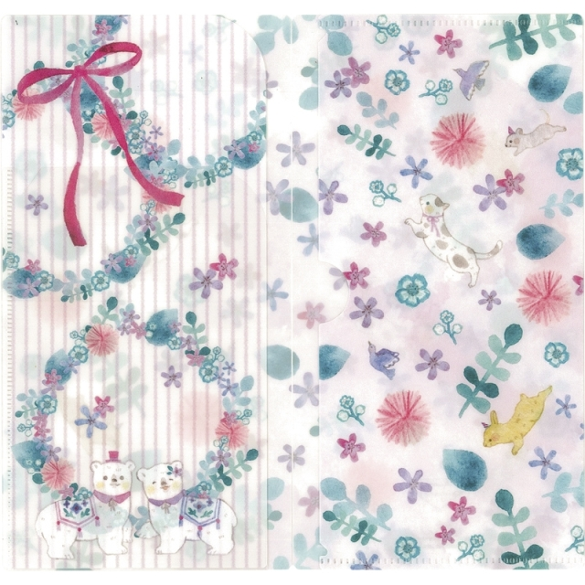 デザイナーズジャパン 抗菌マスクケース(3ポケットタイプ)(ピンクの花畑) (MSK3P-020) <C2137590>
