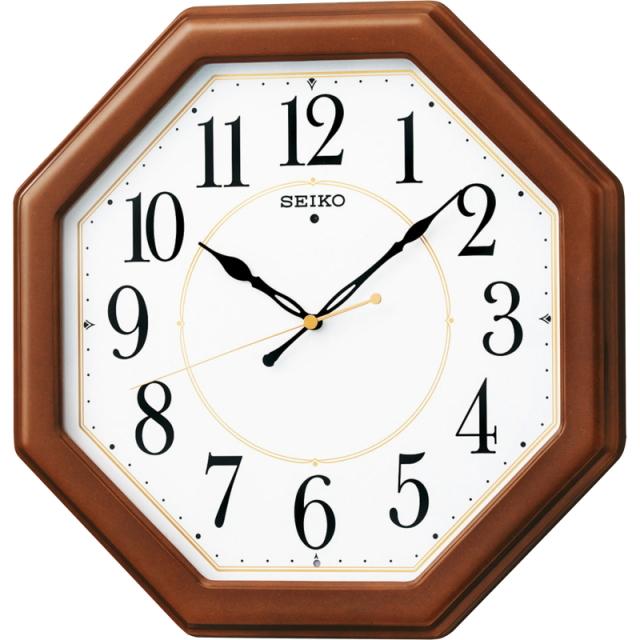 セイコー 電波木枠掛時計(KX389B)