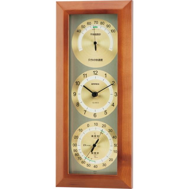 エンペックス 快適モニタ1台4役不快指数計・時計・温度・湿度計(TM-712)