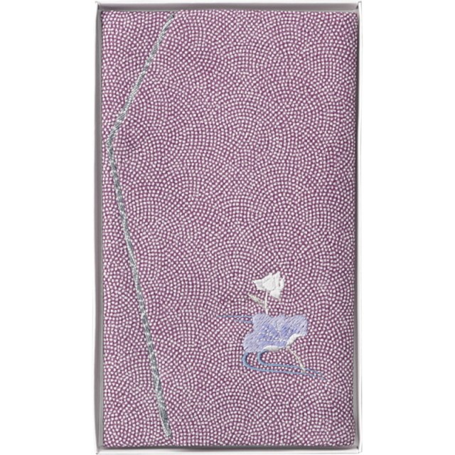 洛北 刺繍入り金封ふくさ(紫蓮)(H033B)