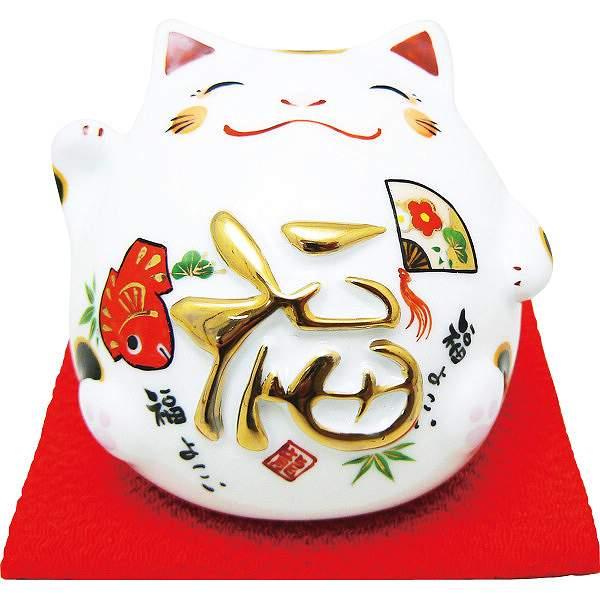 丸猫貯金箱 福  018-0212B