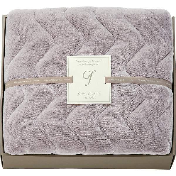グランフランセヌーベル 吸湿発熱綿入りハイソフトタッチ敷パット バイオレットグレー  GFN8057VG