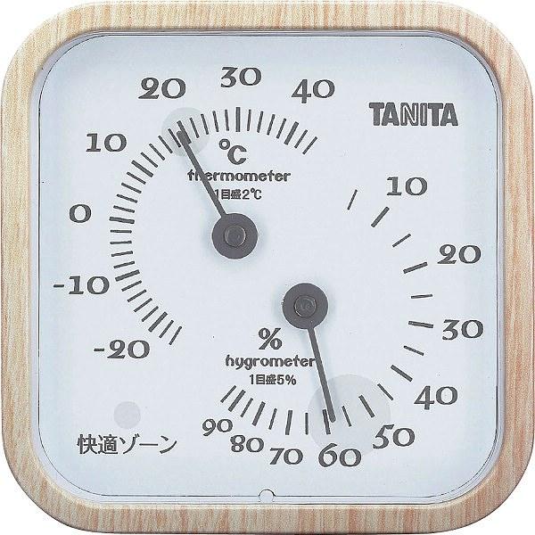タニタ 温湿度計 ナチュラル  TT-570ーNA