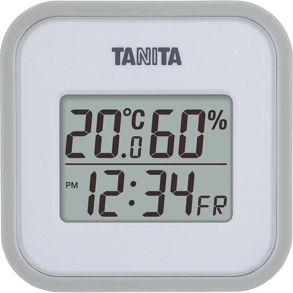 タニタ デジタル温湿度計 グレー  TT558GY
