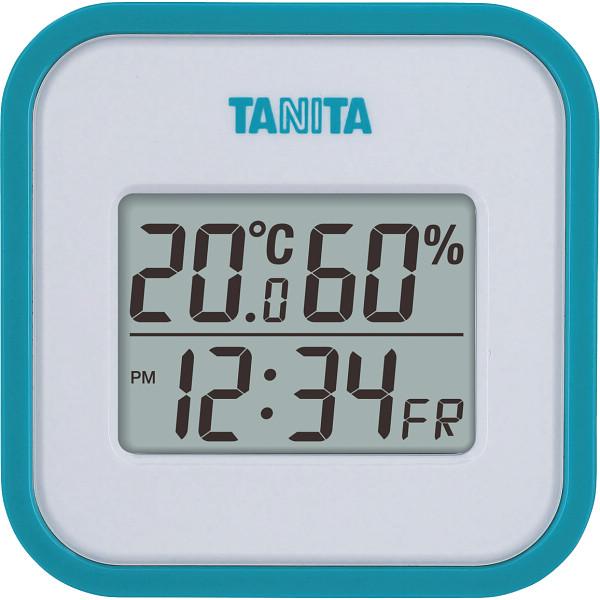 タニタ デジタル温湿度計 ブルー  TT558BL