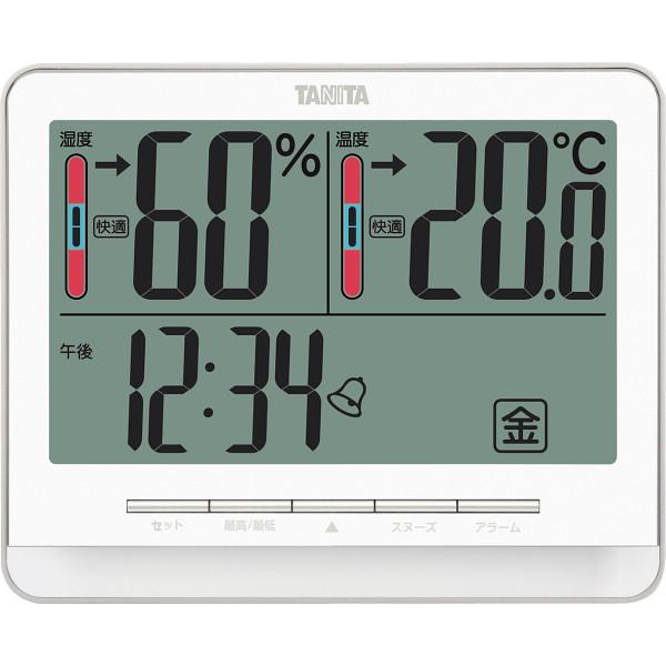 タニタ デジタル温湿度計 ホワイト ホワイト  TT538WH