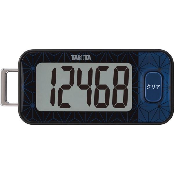 タニタ 3Dセンサー搭載歩数計 ブルーブラック  FB-740-BK