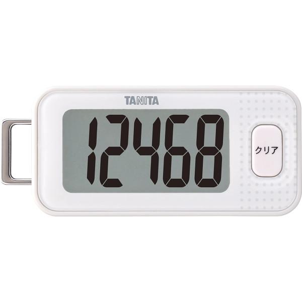 タニタ 3Dセンサー搭載歩数計 ホワイト  FB-740-WH