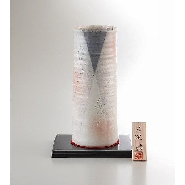 美濃焼 手描工房 10号円筒型花瓶   YJ15-04