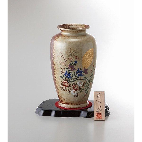 美濃焼 8号壺花瓶 金月秋草   YJ15-06