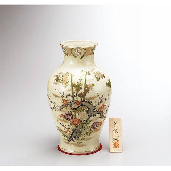美濃焼 貫入10号花瓶 寿竹   YJ07-01
