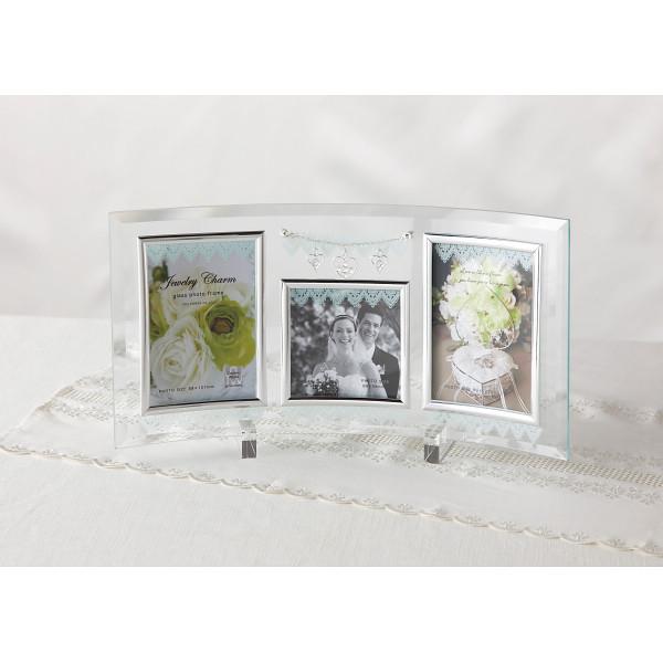 ジュエリーチャームガラスフォトフレーム 3窓   GF-03552