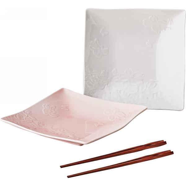 ハナエモリ 花水木 組皿(箸付)   MB5201-79