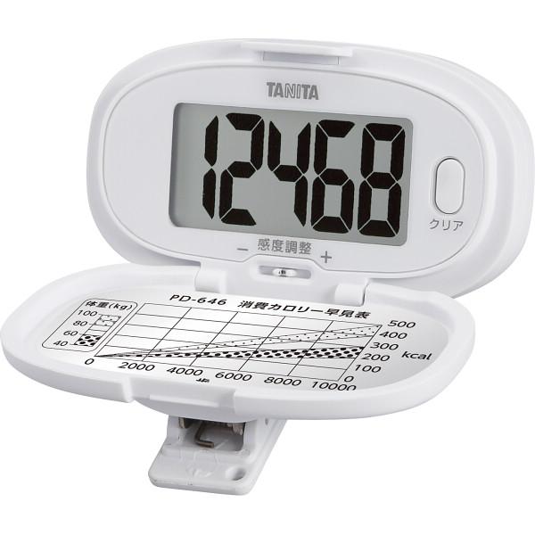タニタ 歩数計 ホワイト  PD-646-WH