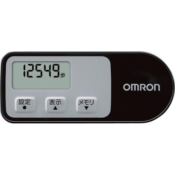 オムロン 歩数計 ウォーキングスタイル ブラック  HJ-321-BK