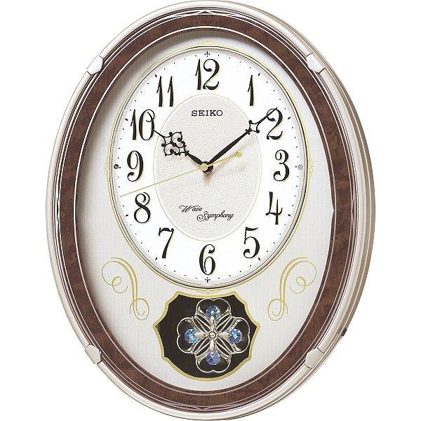 【送料無料】  セイコー メロディ電波掛時計(18曲入)   AM259B