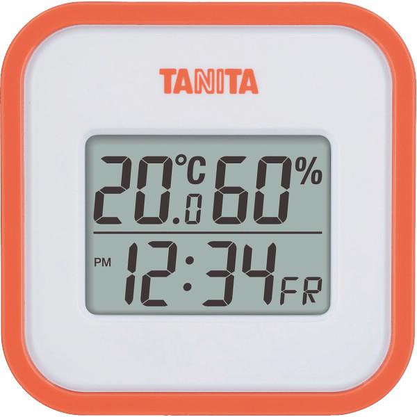 タニタ デジタル温湿度計 オレンジ  TT558OR