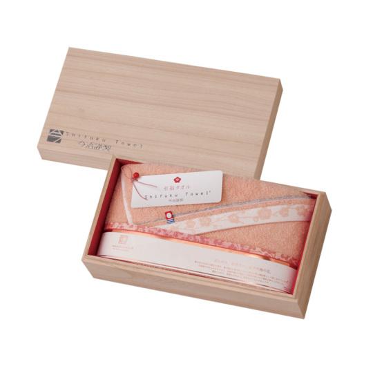 【25%オフ】今治謹製 至福タオル(梅染め) 木箱入り バスタオル1枚 SH3435 ピンク(今治産)