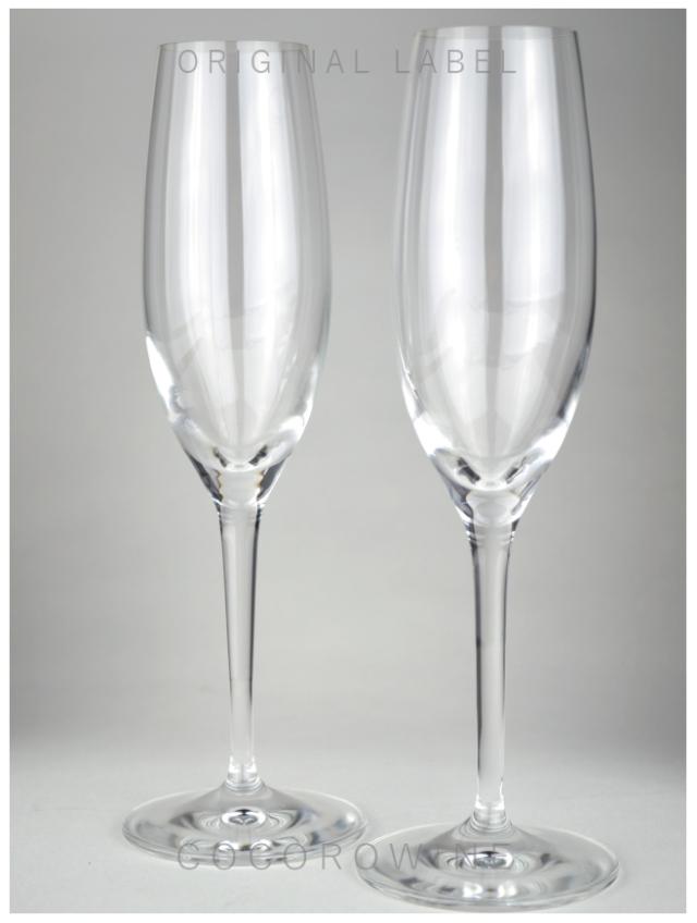 スパークリングワイン中口×グラス2脚セット(ペルル)