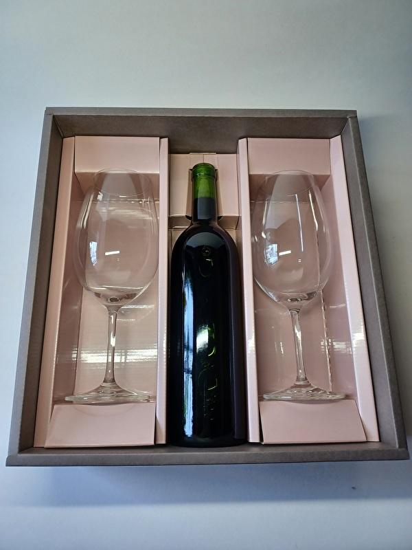 赤ワイン×グラス2脚セット(エクセレンス)