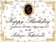 誕生日オリジナルラベル(花柄)