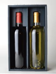 【お手頃!】フルボトル紅白セット・ギフトボックス付き(透明瓶)