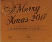 クリスマスオリジナルラベル(革)