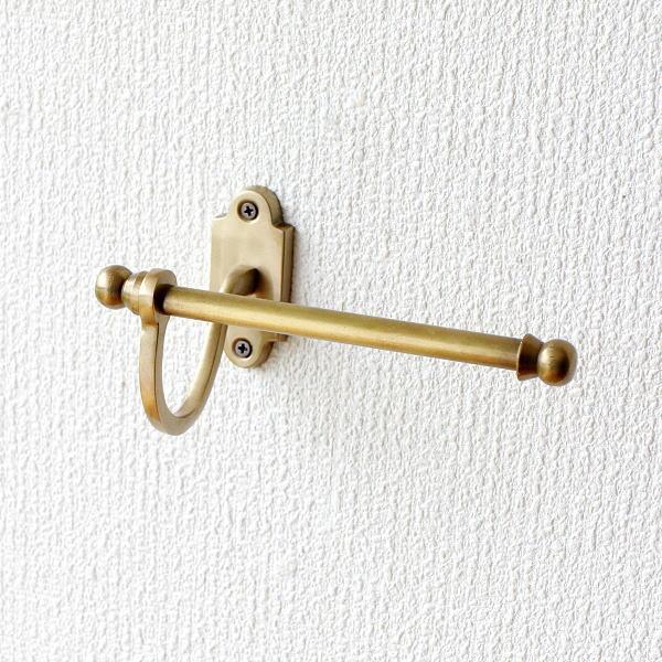 トイレットペーパーホルダー おしゃれ アンティーク 真鍮 ゴールド タオルハンガー タオルバー タオル掛け レトロな真鍮のペーパーホルダー [abk0429]
