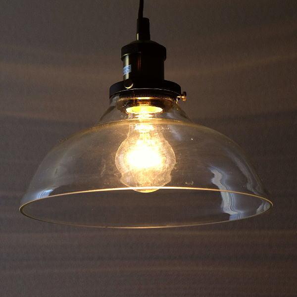 ペンダントライト ガラス アンティーク レトロ LED対応 1灯 シンプル おしゃれ 丸 ヴィンテージ風 インダストリアル カフェ風 ビンテージペンダントランプB [abk5452]