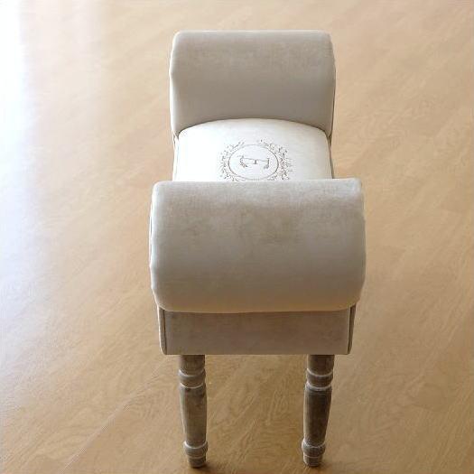 ベンチ スツール おしゃれ かわいい 椅子 玄関 布 クッション スリムなスツールベンチ E 【送料無料】 [abk6404]