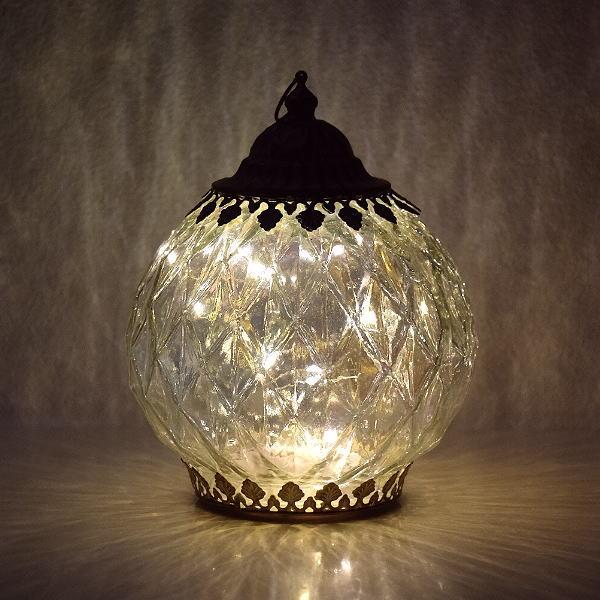 ランタン LED おしゃれ かわいい アンティーク インテリアランプ 卓上ランプ LEDランタン ロワール [abk6949]