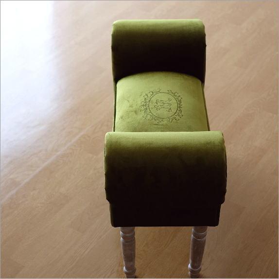 ベンチ スツール おしゃれ かわいい 椅子 玄関 布 クッション スリムなスツールベンチ G【送料無料】