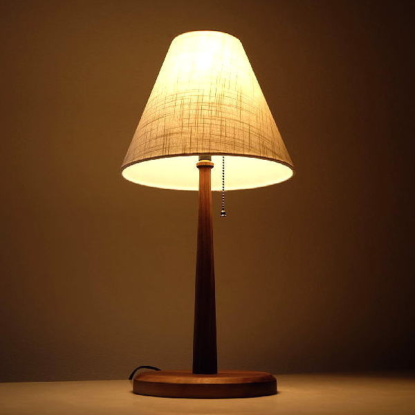 ランプ ベッドサイドランプ テーブルランプ おしゃれ 木製 ウォールナット ランプスタンド スタンド照明 ウッドデスクランプ A 【送料無料】 [aks0694]