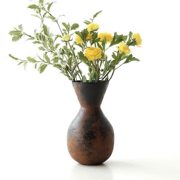花瓶 フラワーベース ドライフラワー専用 アンティーク おしゃれ かわいい アイアン 花器 陶器 モダン ナロウ アイアンのフラワーベース ナロウ [aks2328]