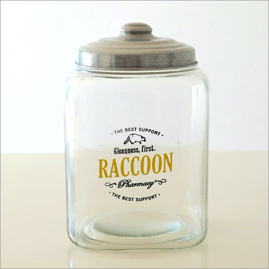 ガラス瓶 ガラスびん 容器 レトロ アンティーク デザイン ガラスボトル インテリア雑貨 小物入れ アルミ蓋のガラスジャー