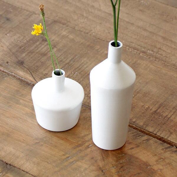 一輪挿し おしゃれ 白 ホワイト 丸 琺瑯 花瓶 フラワーベース 花器 シンプル かわいい ホーローの小さな一輪挿し 2タイプ [aks5859]