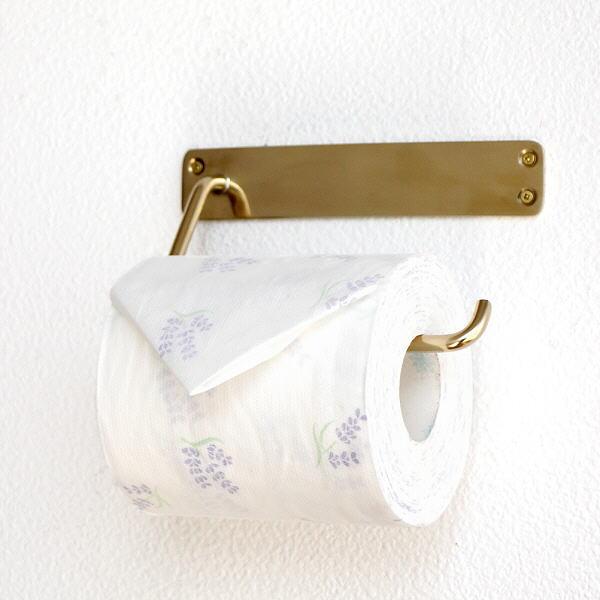 トイレットペーパーホルダー おしゃれ かわいい アンティーク 真鍮 タオルハンガー タオルバー ブラスペーパーSホルダー [aks6887]