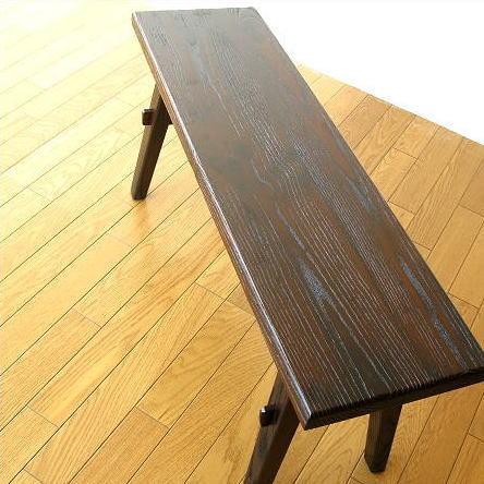 ベンチ 木製 90 長椅子 玄関 アジアン家具 木製ベンチ90 【送料無料】 [akt6813]