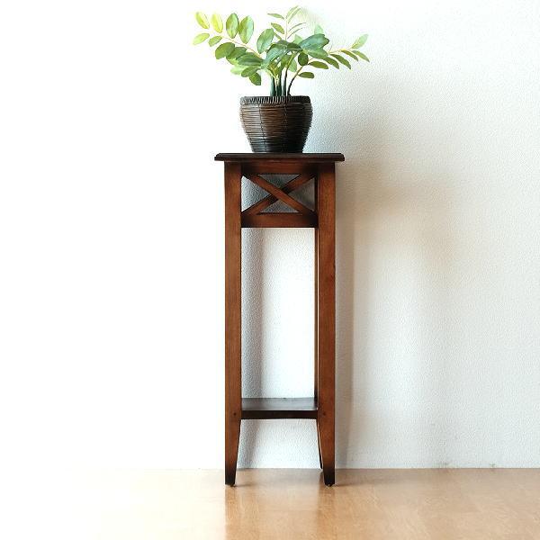 花台 玄関 無垢材 天然木 木製 アジアン アンティーク マホガニーの花台 【送料無料】 [ass7345]