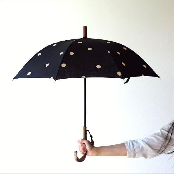 日傘 日本製 UVカット コットン100% 傘 かさ カサ 和風 和柄 モダン 大人 おしゃれ コットンパラソル 小水玉A 【送料無料】 [bam1296]