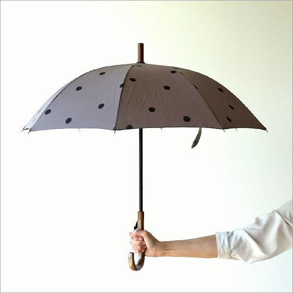 日傘 日本製 UVカット コットン100% 傘 かさ カサ 和風 和柄 モダン 大人 おしゃれ コットンパラソル 小水玉B 【送料無料】 [bam2697]