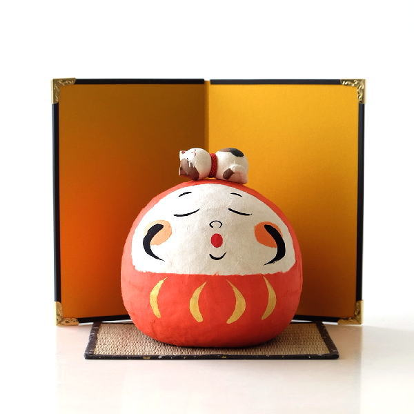 お正月飾り 玄関 おしゃれ だるま 置物 福々和紙だるまセット [bnc8905]