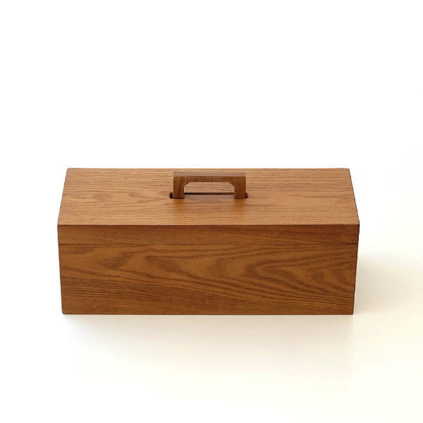 小物入れ ふた付き 木製 おしゃれ アクセサリーボックス 救急箱 裁縫箱 小物収納 木のマルチストレージボックス [cle1815]