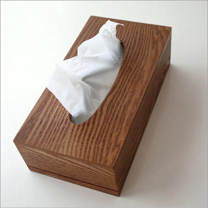 ティッシュケース 木製 おしゃれ ティッシュカバー ウッドシンプルティッシュボックス