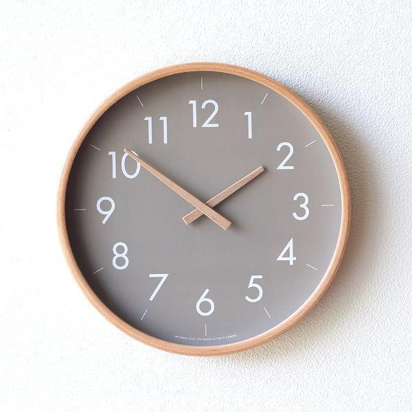 掛け時計 おしゃれ かわいい 木製 静音 シンプル モダン 北欧 スイープムーブメント ナチュラルウッドのウォールクロック GY [cle3820]