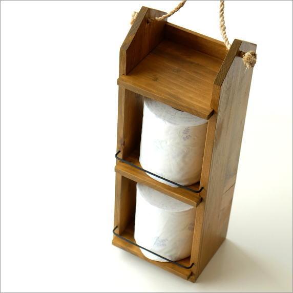 ミニシェルフ キッチン収納 スパイスラック サニタリー ウッドシェルフ 木製 収納棚 整理棚 整理ラック トイレットペーパーラック ロープ付きウォールラック