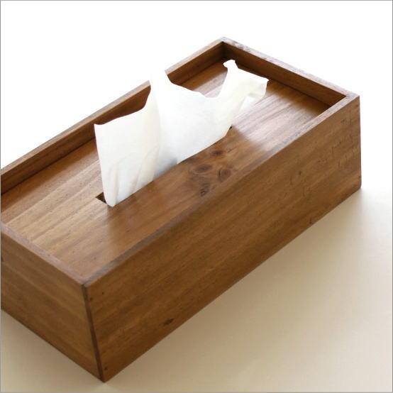 ティッシュケース 木製 木 シンプル おしゃれ ティッシュボックス パイン